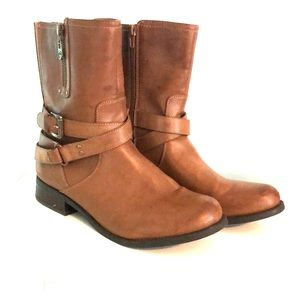 GUESS Medium Brown Moto Boots (Size 10M)